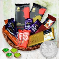 Joyful Gift Hamper of Chocolates and Happiness to Barauipur
