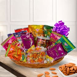 Splendid Fineness Haldirams Sweet and Mixed Savories Gift Hamper to Baraut