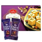 Divine Treat with Haldirams and Cadbury Chocolate Gift Hamper to Bandikui