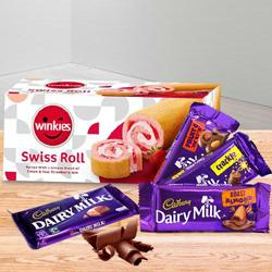 Rich Seasons Greeting Cadbury Chocolate Gift Hamper to Batala
