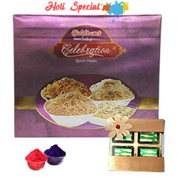 Festive Indulgence with Mixed Haldirams Savories and Chocolate Gift Pack to Udaipur