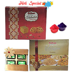 Wholesome Celebration Chocolate with Haldirams Products Gift Set to Lakshadweep