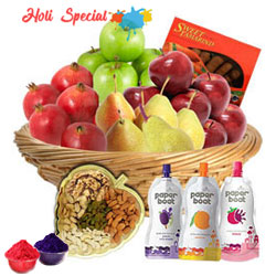 Nutritious Fruits and Crispy Dry Fruits Mixed Hamper to Gurgaon