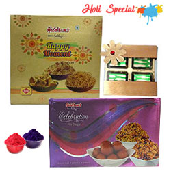 Pleasurable Seasons Greeting Chocolate and Haldirams Savories Gift Set to Solapur