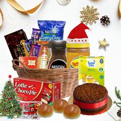 Tempting Christmas Treat Gift Hamper to Akola