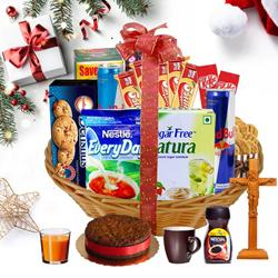 Fancy and Fabulous Christmas Gift Basket to Courtallam