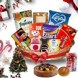 Tantalizing Christmas Treasure Basket<br> to Ludhiana