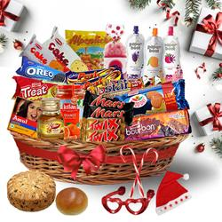 Sophisticated Christmas Treat Basket<br> to Bellary