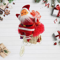 Beautiful Santa Claus With Chocolates Gift Set to Rajkot