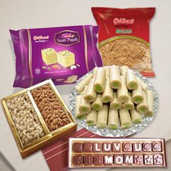 Palatable Mothers Day Wishes Haldiram Gift Pack to Agra