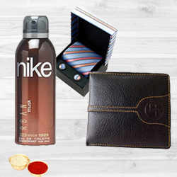 Stylish Set of Gents Accessories with free Roli Tilak and Chawal to Bangalore