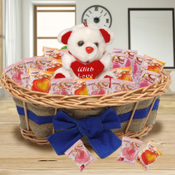 Extravagant Chocolates and Teddy Bear to Addanki