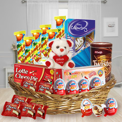 Soothing Arrangement of Kids Chocolates to Addanki
