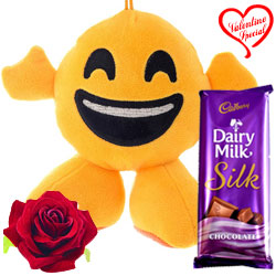 Love Smiley with Cadbury Dairy Milk Silk & Free Ve... to Faridabad