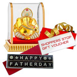 Fathers Day Chocolate with Dinner Voucher from Mainland China & Lucky Ganesh to Ahmedabad