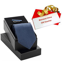 Fantastic Gift Pack of Mainland China Gift Voucher worth Rs.1000 and Tie Tiepin Set to Baddi