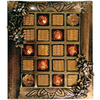 Classic Combo of Diya Candles with Mouth-Watering Assorted Homemade Chocolates to Barrackpore