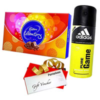 Adidas Pure Game Deo with Chocolate and Gift Voucher to Nagpur