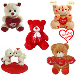 V-Day Special Soft N Cuddle Teddies Hamper to Alwar