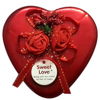 Marvelous Gift of Red Heart Shaped Box of Chocolates Assortments to Balrampur