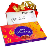 Celebration Pack of Cadbury N Pizza Hut Gift Voucher to Patna