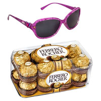 Admirable Barbie Themed Sunglasses with 16 pcs Ferrero Rocher Chocolate to Amravati