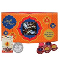 Tasty Treat of Chocolate Assortments with Cards N Silver Plated Coin to Cochin