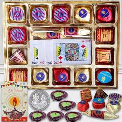 Handmade Chocolates n Playing Cards for Diwali to Barnala