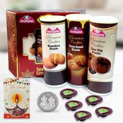 Crisp Monginis Cookies Trio Pack for Diwali to Ranchi