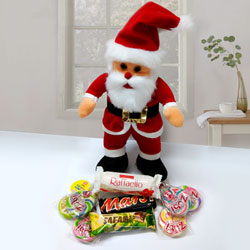 Santa Claus with Assorted Chocolates to Bardhaman