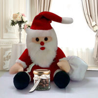 Santa Soft Toy with Nutties to Calcutta