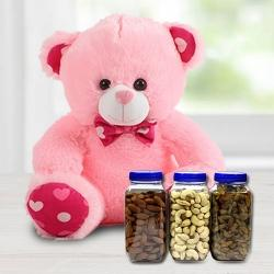6 inch Teddy with Dried Fruits to Agra