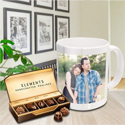 Lovely Personalized Coffee Mug with Premium Chocolates from ITC to Baramati