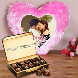 Stunning Personalized Cushion with ITC Premium Chocolates to Achalpur