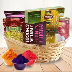 Mind Blowing Sweet n Sour Holi Gifts Basket. to Abohar