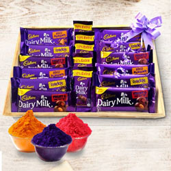 Enjoying Cadburys Holi Gift Hamper to Akola