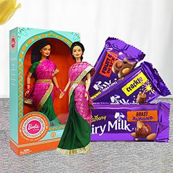 Marvelous Barbie and Cadbury Chocolates to Adoni