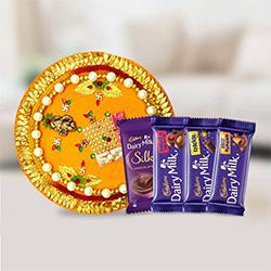 Assorted Cadbury Chocolates n Pooja Thali to Jalandhar