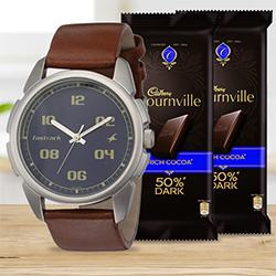 Fastrack Watch n 2 pcs Cadbury Bournville to Barnala