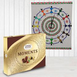 Beautiful Warli Art Wall Clock n Ferrero Rocher Moments to Adugodi