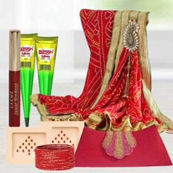 Marvelous Goodies Gift Bag for Karwa Chauth Sringar to India