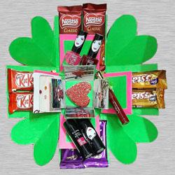 3 Layer Personalized Photo, Cosmetics n Chocolates Explosion Box to Adilabad