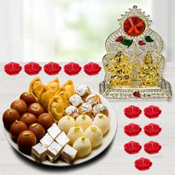 Special Diwali Sweets with Laxmi Ganesh Mandap, Free Candle to New Delhi