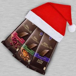 Delectable Cadbury Bournville Chocolate in Santa Clause Cap to Jamshedpur