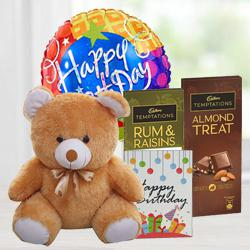 Delightful Cadbury Temptations N Teddy Combo to Adoni