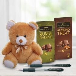Delightful Cadbury Temptations N Teddy Combo to Agra