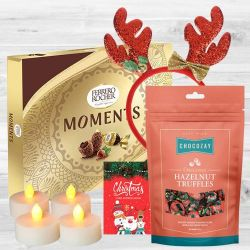Exclusive Chocos n Tea Lights Combo for Christmas to Aizwal