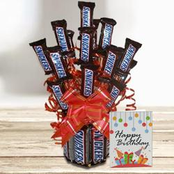 Marvelous Snickers Chocolate Bouquet to Aizawl
