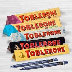 Marvelous Toblerone Chocolates with 2pcs Ball Point Pen to Ahmadnagar