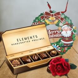 Marvelous ITC Elements Chocos with Velvet Rose N Wreath to Adugodi